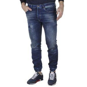 Τζιν Παντελόνι Slim με Λάστιχα SCINN Jeans LEON L FW20 Μπλε