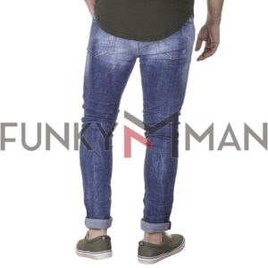 Τζιν Παντελόνι Slim Back2jeans S28 SS21 Μπλε