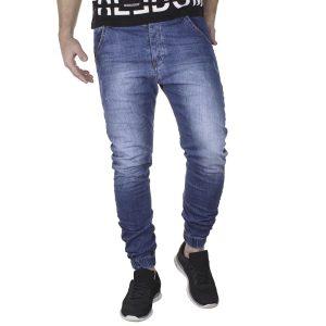 Jean Παντελόνι με Λάστιχα Back2jeans T19A SS21 Loose fit Μπλε