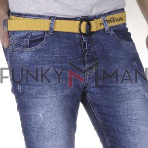 Τζιν Παντελόνι Slim Fit Back2jeans W77 SS21 Μπλε