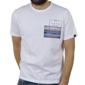 Κοντομάνικη Μπλούζα T-Shirt BigMan BM-501 Λευκό