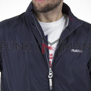 Ελαφρύ Μπουφάν Semi Short Jacket REBASE RMJK-145 SS20 Navy