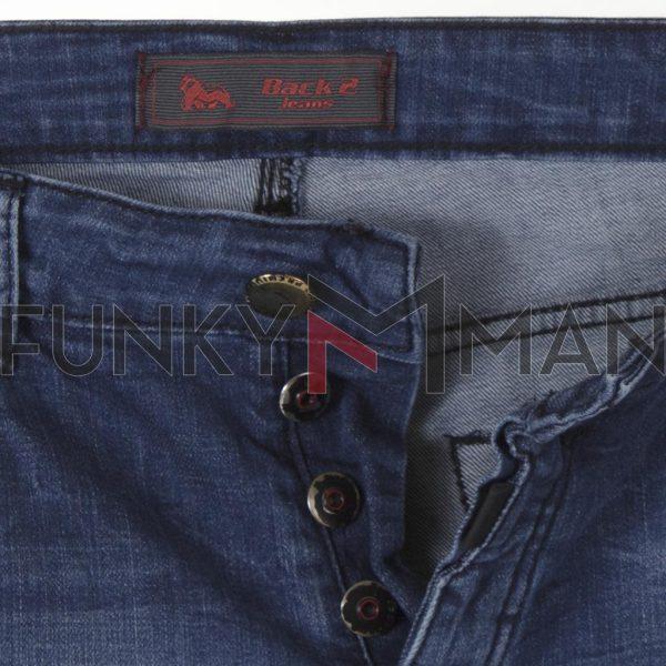 Τζιν Παντελόνι Back2jeans W37A slim SS21 σκούρο Μπλε