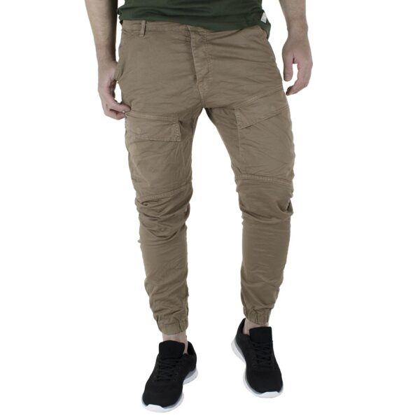 Cargo Παντελόνι με Λάστιχα Back2jeans W50 SS21 ARMY Μπεζ