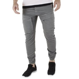 Cargo Παντελόνι με Λάστιχα Back2jeans W50 SS21 ARMY cement Γκρι