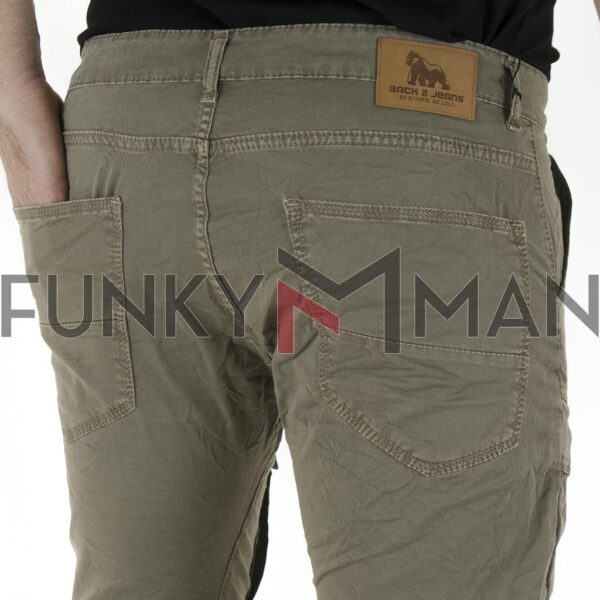 Cargo Παντελόνι με Λάστιχα Back2jeans W50 SS21 ARMY Χακί