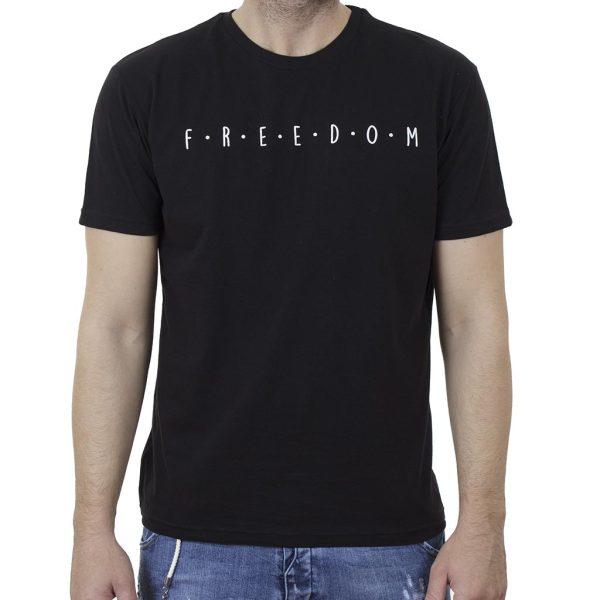 Κοντομάνικη Μπλούζα T-Shirt Cotton4all 21-200 SS21 Μαύρο