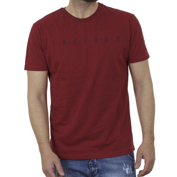 Κοντομάνικη Μπλούζα T-Shirt Cotton4all 21-200 SS21 σκούρο Κόκκινο