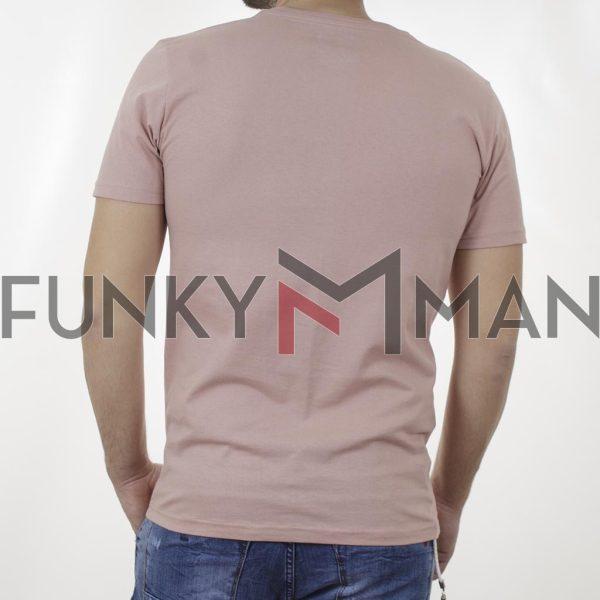 Κοντομάνικη Μπλούζα T-Shirt Cotton4all 21-200 SS21 Ροζ