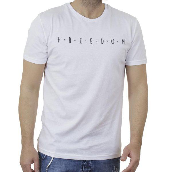 Κοντομάνικη Μπλούζα T-Shirt Cotton4all 21-200 SS21 Λευκό