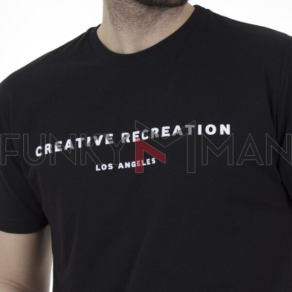 Κοντομάνικη Μπλούζα T-Shirt Cotton4all 21-202 SS21 Μαύρο