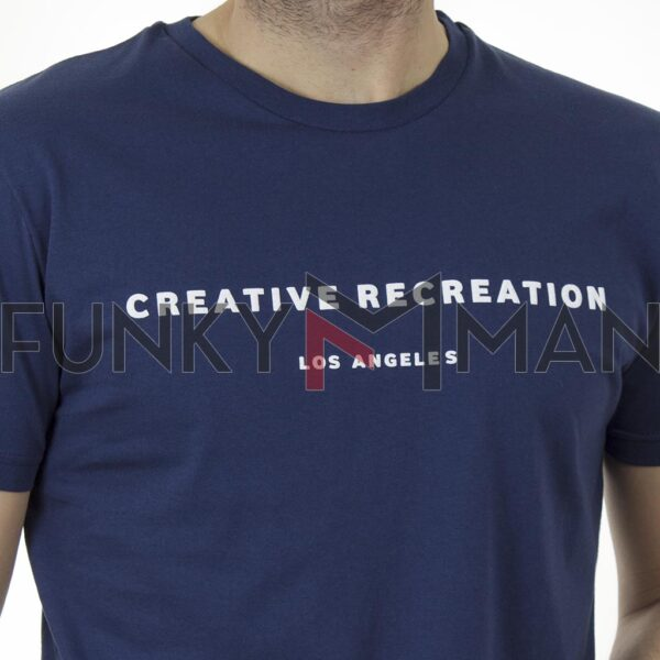 Κοντομάνικη Μπλούζα T-Shirt Cotton4all 21-202 SS21 indigo Μπλε