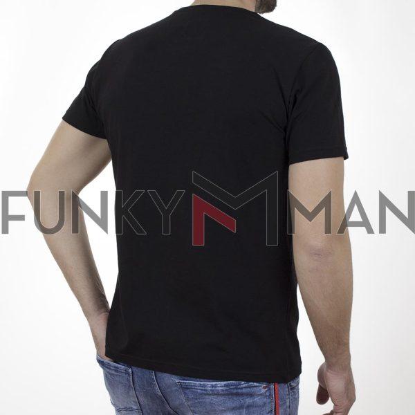 Κοντομάνικη Μπλούζα T-Shirt Cotton4all 21-203 SS21 Μαύρο