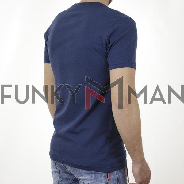Κοντομάνικη Μπλούζα T-Shirt Cotton4all 21-203 SS21 indigo Μπλε