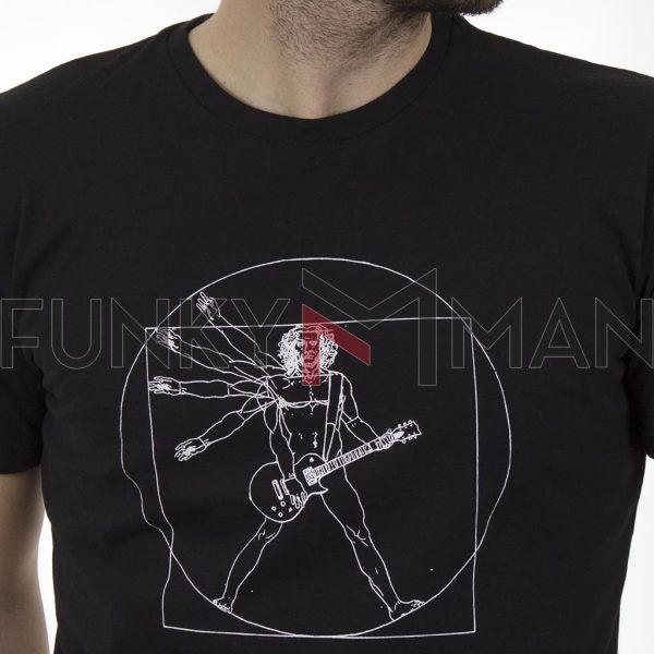 Κοντομάνικη Μπλούζα T-Shirt Cotton4all 21-204 SS21 Μαύρο