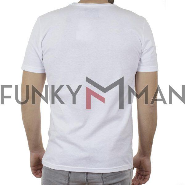 Κοντομάνικη Μπλούζα T-Shirt Cotton4all 21-204 SS21 Λευκό