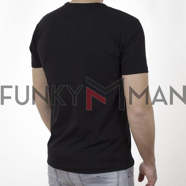 Κοντομάνικη Μπλούζα T-Shirt Cotton4all 21-206 SS21 Μαύρο