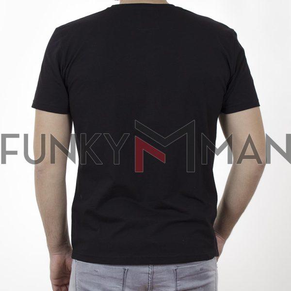 Κοντομάνικη Μπλούζα T-Shirt Cotton4all 21-207 SS21 Μαύρο