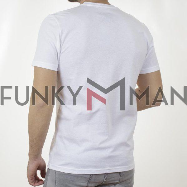 Κοντομάνικη Μπλούζα T-Shirt Cotton4all 21-207 SS21 Λευκό
