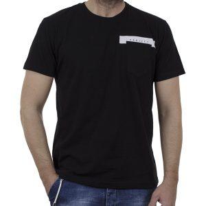 Κοντομάνικη Μπλούζα T-Shirt Cotton4all 21-208 SS21 Μαύρο