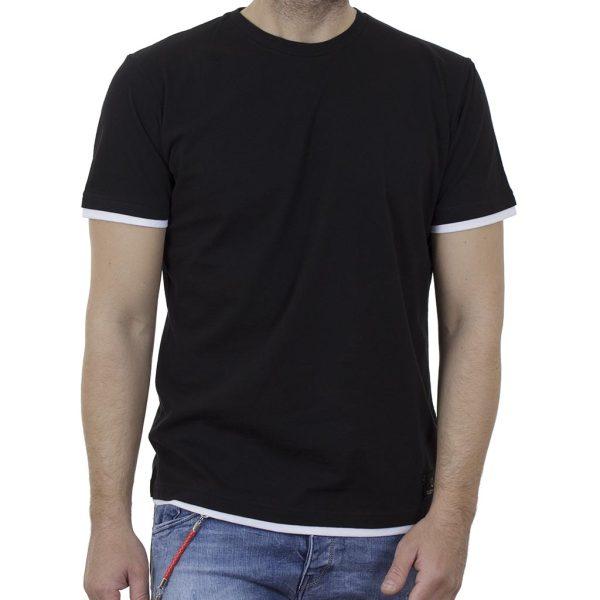 Κοντομάνικη Μπλούζα T-Shirt Cotton4all 21-210 SS21 Μαύρο