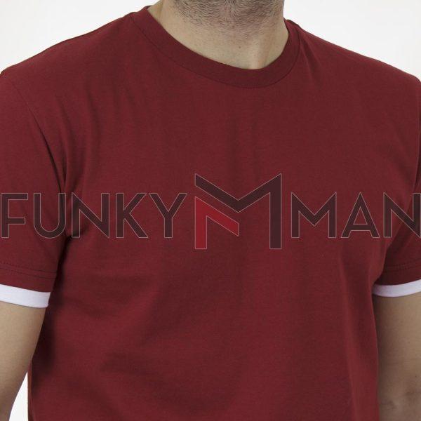 Κοντομάνικη Μπλούζα T-Shirt Cotton4all 21-210 SS21 σκούρο Κόκκινο