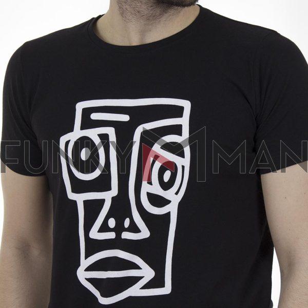 Κοντομάνικη Μπλούζα T-Shirt Cotton4all 21-211 SS21 Μαύρο