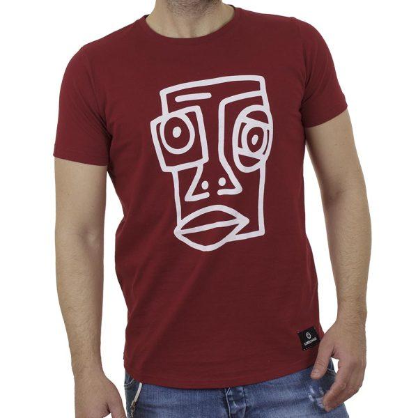 Κοντομάνικη Μπλούζα T-Shirt Cotton4all 21-211 SS21 σκούρο Κόκκινο