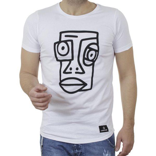 Κοντομάνικη Μπλούζα T-Shirt Cotton4all 21-211 SS21 Λευκό