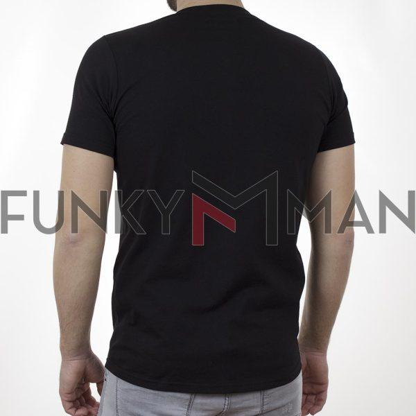 Κοντομάνικη Μπλούζα T-Shirt Cotton4all 21-214 SS21 Μαύρο