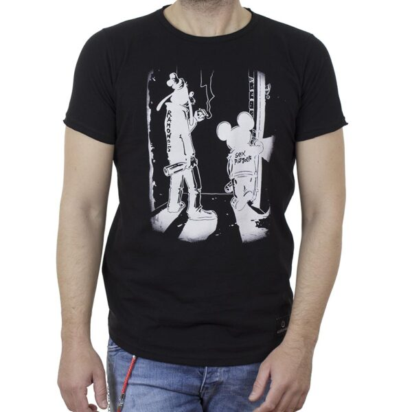Κοντομάνικη Μπλούζα T-Shirt Cotton4all 21-219 SS21 Μαύρο