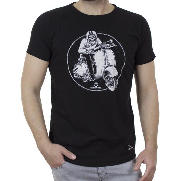 Κοντομάνικη Μπλούζα T-Shirt Cotton4all 21-220 SS21 Μαύρο