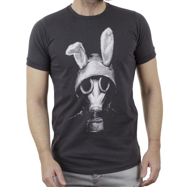 Κοντομάνικη Μπλούζα T-Shirt Cotton4all 21-222 SS21 Ανθρακί