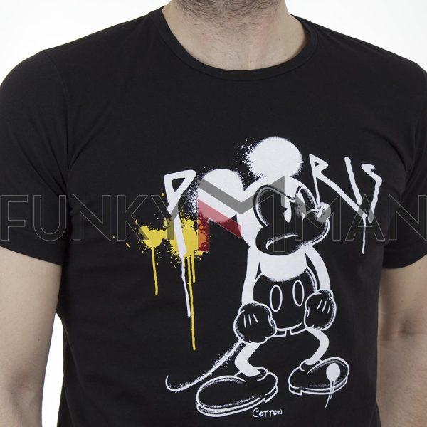 Κοντομάνικη Μπλούζα T-Shirt Cotton4all 21-223 SS21 Μαύρο