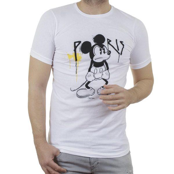 Κοντομάνικη Μπλούζα T-Shirt Cotton4all 21-223 SS21 Λευκό