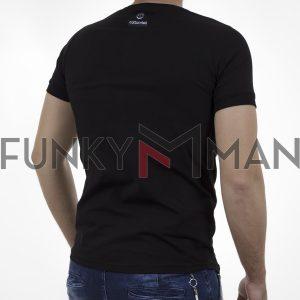 Κοντομάνικη Μπλούζα T-Shirt Cotton4all 21-224 SS21 Μαύρο
