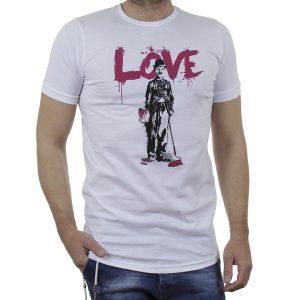 Κοντομάνικη Μπλούζα T-Shirt Cotton4all 21-224 SS21 Λευκό