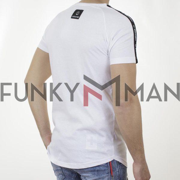 Κοντομάνικη Μπλούζα T-Shirt Cotton4all 21-232 SS21 Λευκό