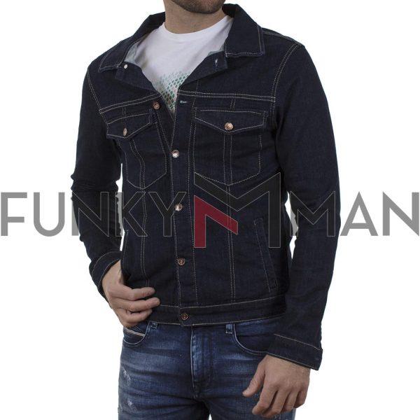 Jean Jacket DAMAGED JC6D σκούρο Μπλε