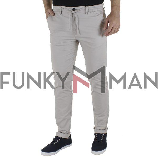 Παντελόνι Chinos με Λάστιχο Special Fabric DOUBLE CP-235 SS21 Ice