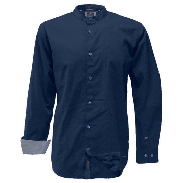 Mao Collar Πουκάμισο Slim Line DOUBLE GS-521 Indigo