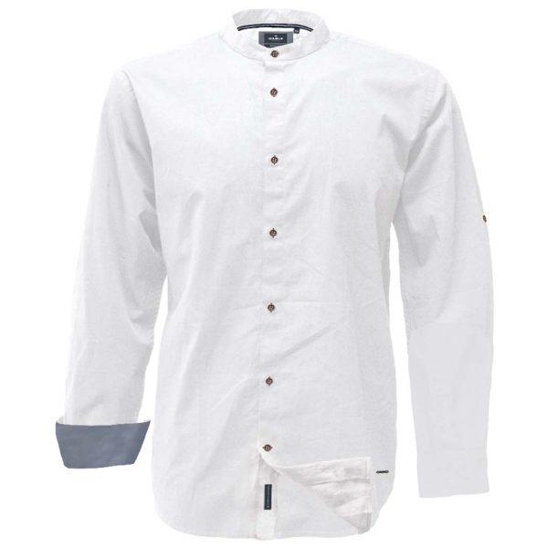 Mao Collar Πουκάμισο Slim Line DOUBLE GS-521 Λευκό