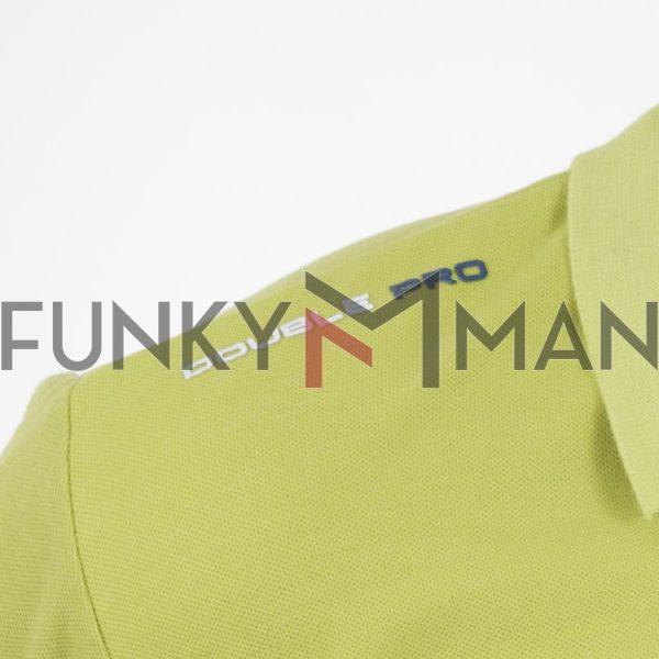 Κοντομάνικο Pique Μπλούζακι Polo DOUBLE PS-261S Lime