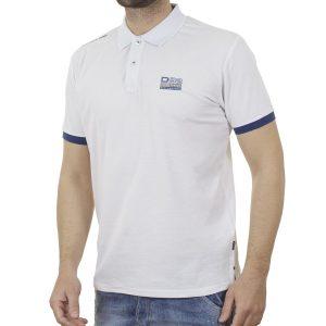 Κοντομάνικο Pique Μπλούζακι Polo DOUBLE PS-261S Λευκό