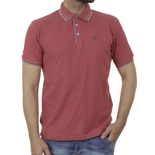 Κοντομάνικο Polo Μπλούζακι Pique DOUBLE PS-263S Ροζ