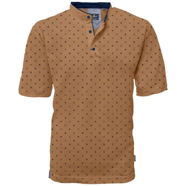Fashion T-Shirt Mao Collar DOUBLE PS-264S Camel
