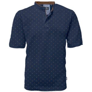 Fashion T-Shirt Mao Collar DOUBLE PS-264S Navy