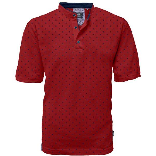 Fashion T-Shirt Mao Collar DOUBLE PS-264S Κόκκινο