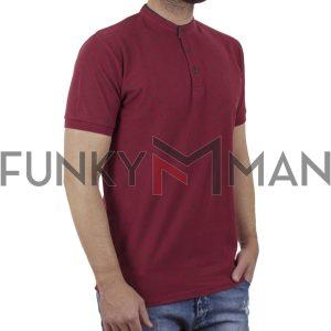 Fashion Mao Collar Polo DOUBLE PS-264S Κόκκινο