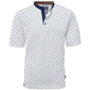 Fashion T-Shirt Mao Collar DOUBLE PS-264S Λευκό